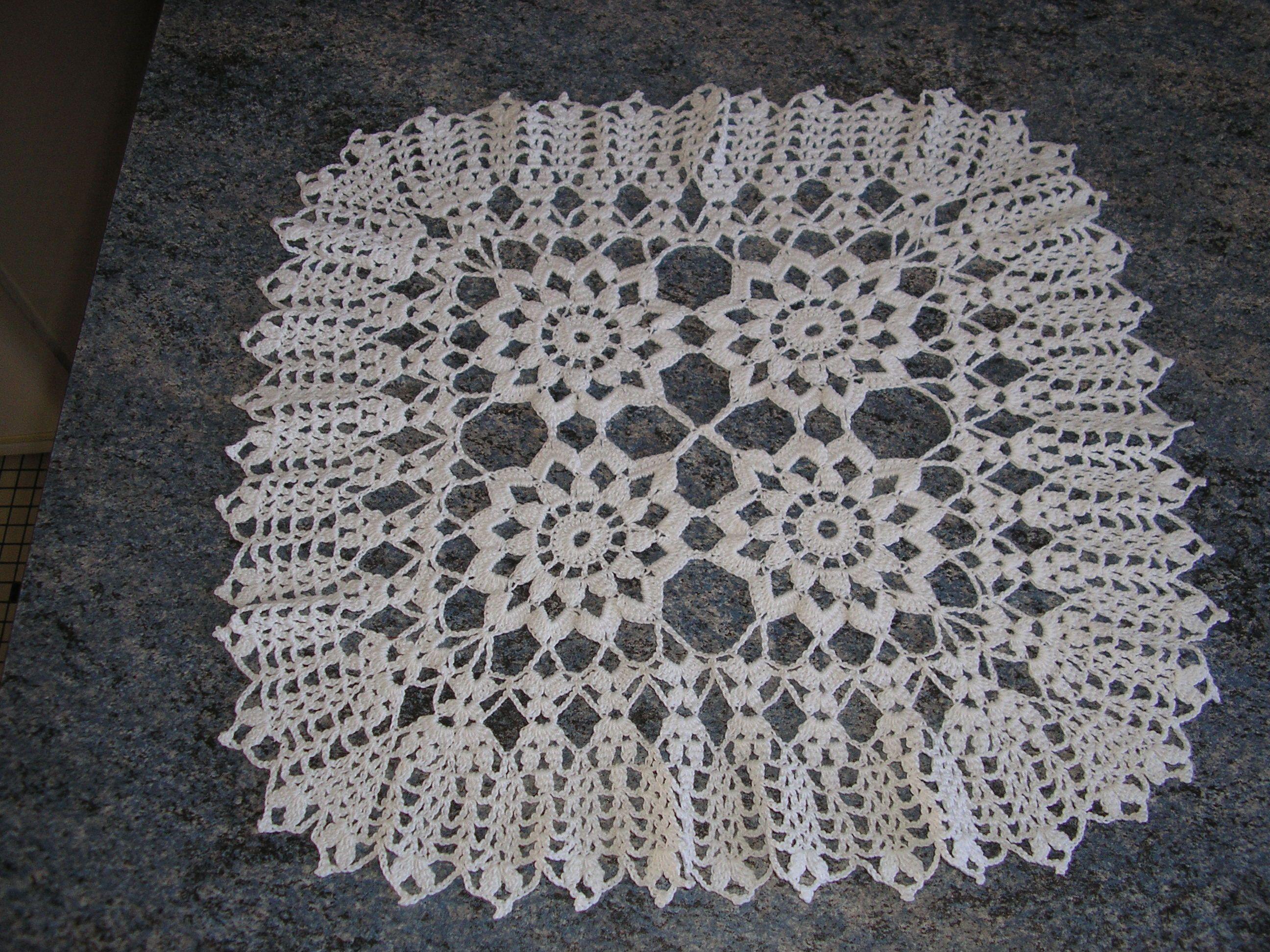 Grand Napperon Au Crochet à napperons au crochet