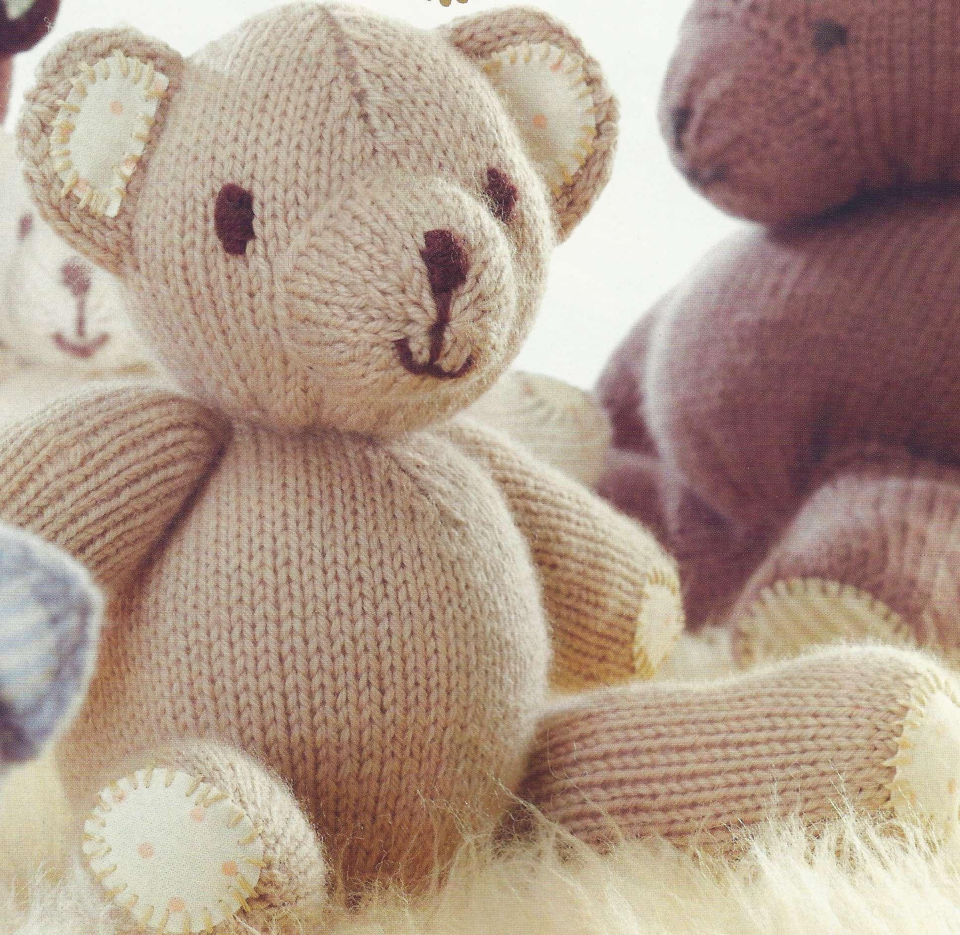modèle tricot nounours